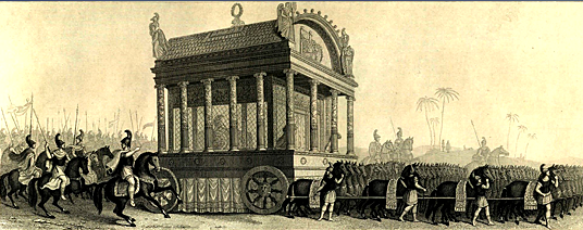 Char funéraire d'Alexandre le Grand | historyweb.fr  Mort d'Alexandre le Grand historyweb histoire char funeraire alexandre le grand