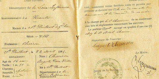 Livret ouvrier | Le site de l'Histoire | historyweb