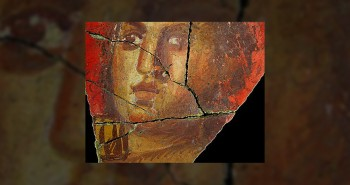 Fresque avec visage de femme, Arles | Historyweb.fr silos à grains gaulois Une centaine de silos à grains gaulois découverts en Auvergne fresque arles 350x185