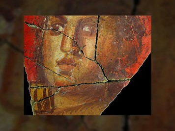 Fresque avec visage de femme, Arles | Historyweb.fr