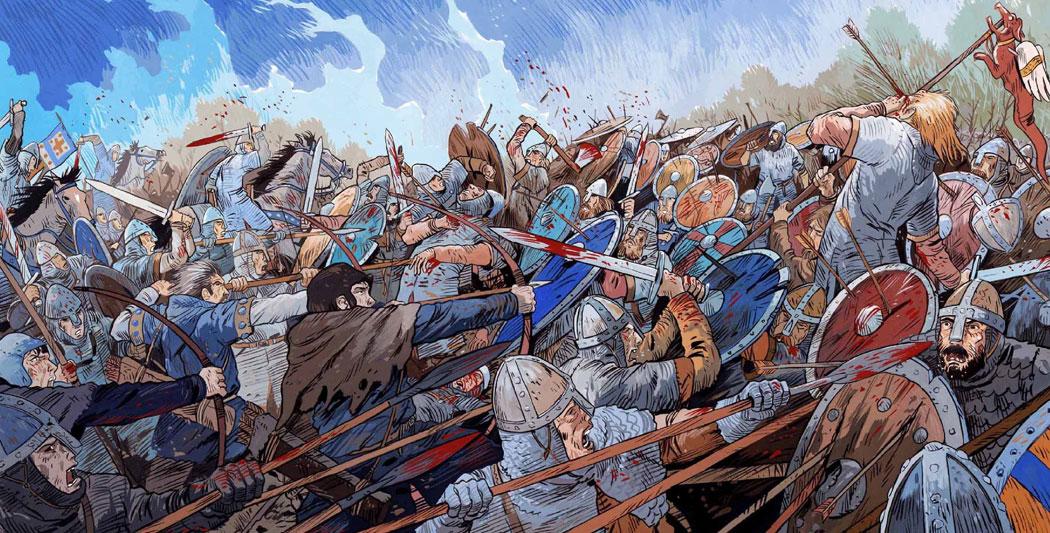 La bataille d'Hastings, Guillaume le Conquérant ou la conquête de l'Angleterre bataille d'hastings La bataille d'Hastings guillaume le conquerant emmanuel cerisier historyweb 1 1