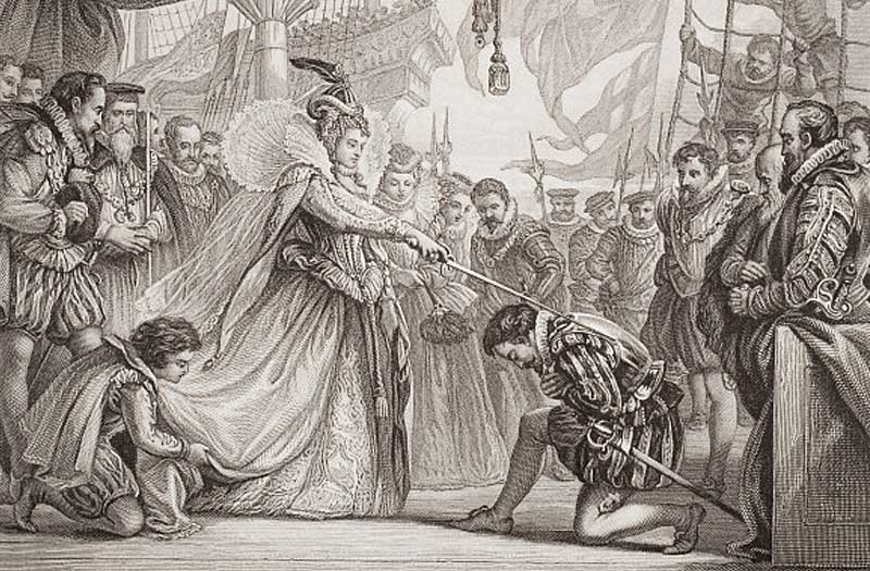 L'Invincible Armada | Anoblissement de Francis Drake | Le site de l'Histoire | Historyweb l'invincible armada L'invincible armada et la bataille de Gravelines invincible armada historyweb 5
