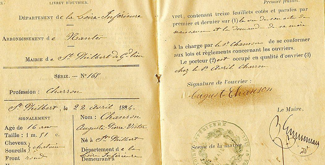 Le livret ouvrier, histoire et origine