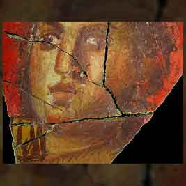 Fresque avec visage de femme, Arles | Historyweb.fr fresques Des fresques dignes de Pompéi exhumées à Arles fresque arles 267x267