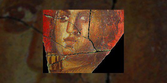Fresque avec visage de femme, Arles   Historyweb.fr  Des fresques dignes de Pompéi exhumées à Arles fresque arles 534x267