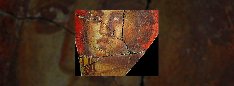 Fresque avec visage de femme, Arles | Historyweb.fr  Des fresques dignes de Pompéi exhumées à Arles fresque arles  Blog Dark All Posts fresque arles