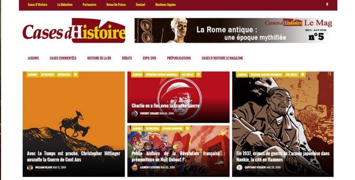 Cases d'Histoire   Le site de l'Histoire   Historyweb cases d'histoire Cases d'histoire : l'Histoire en bulles… cases histoire site histoire historyweb 1 730x371