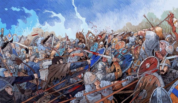 La bataille d'Hastings | Guillaume le Conquérant | Emmanuel Cerisier | Historyweb - 9 bataille d'hastings La bataille d'Hastings guillaume le conquerant emmanuel cerisier historyweb 7 730x421