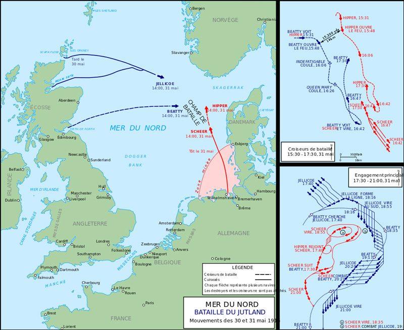 Bataille du Jutland | Carte | | Histoire | Site d'Histoire | Historyweb  La bataille du Jutland bataille du jutland historyweb 2